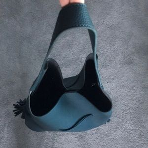 Free People Bags - Free People Street Level Evergreen Leather Hobo